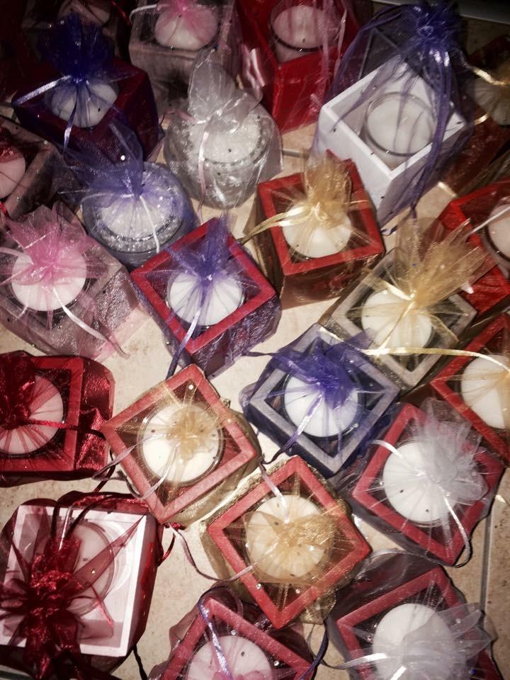 assortiment bougies bio marché de Lully